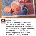 Wethouder Marijn Snoek opent Prematuren Poli Haarlem